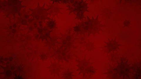 Red bacteria Stock Video Footage
