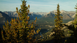 Sunset time at Banff Timelapse Stock Video Footage