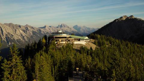 Walkway at top of Mt. Sulphur Stock Video Footage