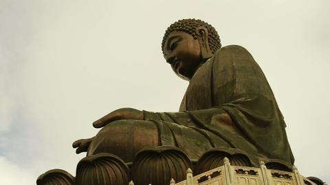 Big Buddha with cloudy sky Footage
