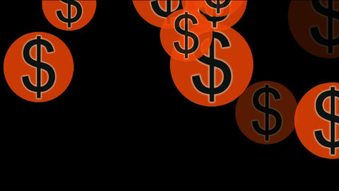 Float USA dollars sign Animation