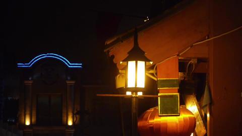 hazy streetlight at night Stock Video Footage
