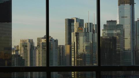 view modern urban high-rise from windows,Beijing business financial center Footage