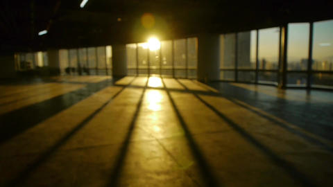 blur backgrounds of a person walking in business building... Stock Video Footage