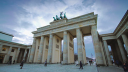 Brandenburg Gate Timalapse Day Shot stock footage