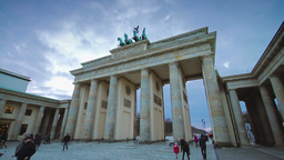 Brandenburg gate timalapse day shot Stock Video Footage