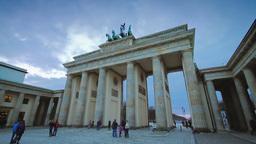 Brandenburg gate timalapse day shot Stock Video Footage