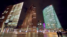 Time lapse of Potsdamer Platz in Berlin Stock Video Footage