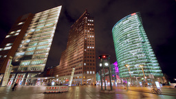 Time lapse of Potsdamer Platz in Berlin Stock Video Footage