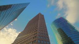 Potsdamer Platz skyscrapers Stock Video Footage