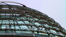 Detail of the Reichstag building in Berlin Stock Video Footage