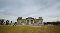 Berlin Reichstag building timelapse Stock Video Footage
