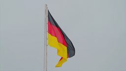 German flag waving Stock Video Footage