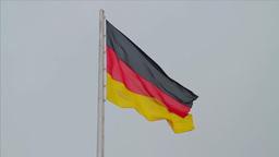 German flag waving Footage
