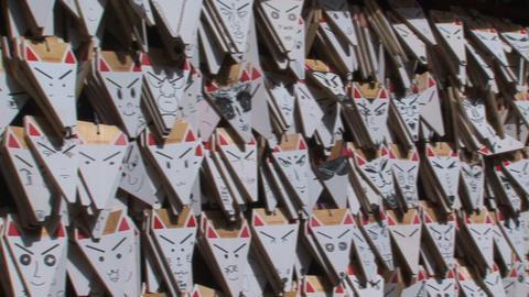 Fushimi Inari fox 03 Stock Video Footage