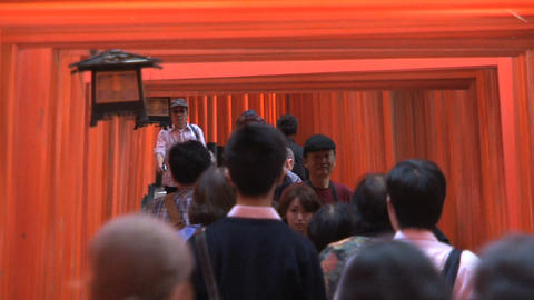 Fushimi Inari people Stock Video Footage