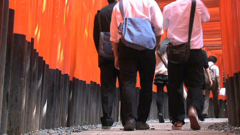 Fushimi Inari people Footage