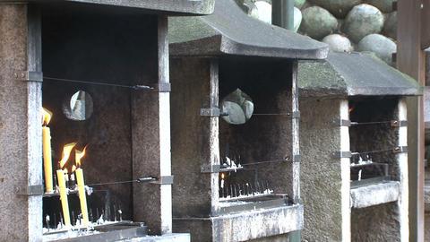 Fushimi Inari Temple candle Stock Video Footage