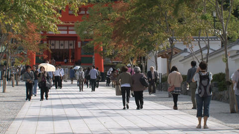 Fushimi Inari Temple entrance Footage