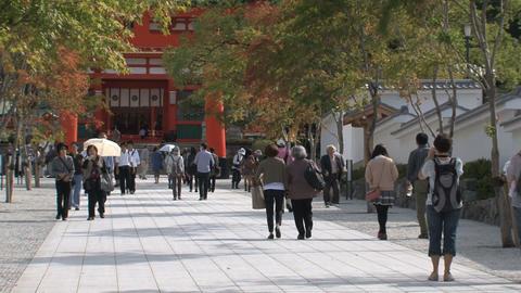 Fushimi Inari Temple entrance Footage