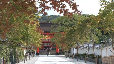 Fushimi Inari Temple entrance Stock Video Footage