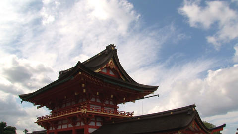 Fushimi inar temple timelapse Stock Video Footage