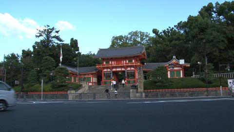 Gion kyoto ambulance Stock Video Footage