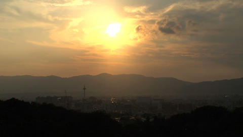 Kyoto landscape timelapse Stock Video Footage