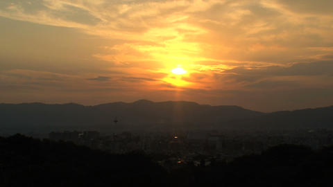 Kyoto landscape timelapse Footage