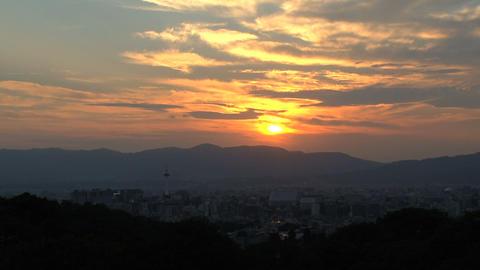 Kyoto landscape timelapse Stock Video Footage
