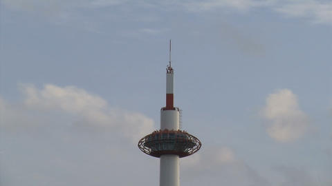 Kyoto tower timelapse top Stock Video Footage