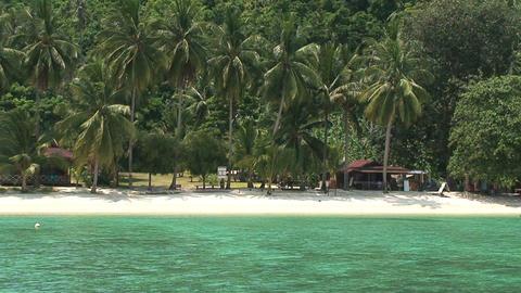Perhentian Islands resort Stock Video Footage