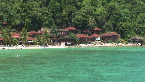 Perhentian Islands villas Stock Video Footage