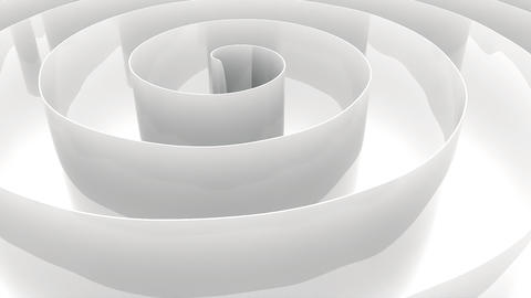 Abstract white wavy paper spline morphing movement effect background Animation