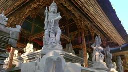 Balinese mythology characters. Gunung Kawi Temple Complex, Bali, Indonesia Footage