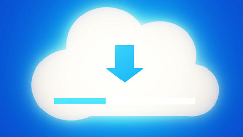 4k,Download the informative cloud,loading progress,web tech background Footage