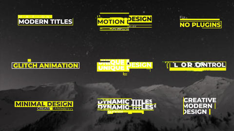 Modern Glitch Titles After Effects Template