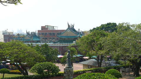 View from Anping Old Fort over square Footage