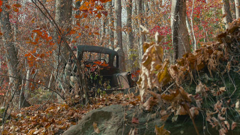 Old Rusty Truck in Georgia's Amicalola Falls State Park, 4K Footage