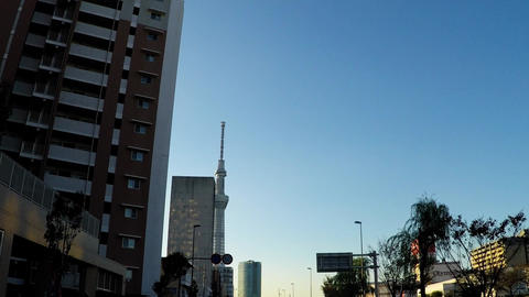 Road heading to Asakusa from the main road Footage