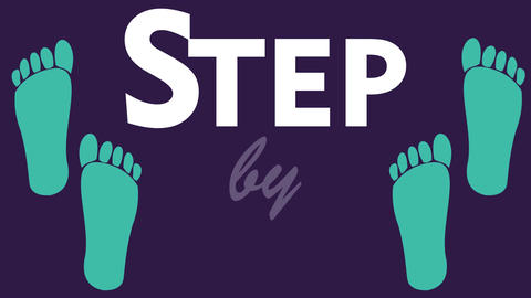 Step by step animation. Introduction clip for training, education. Moving two pa Footage