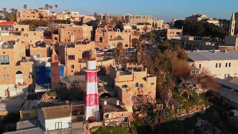 Famous old town of Jaffa at Tel Aviv Live Action