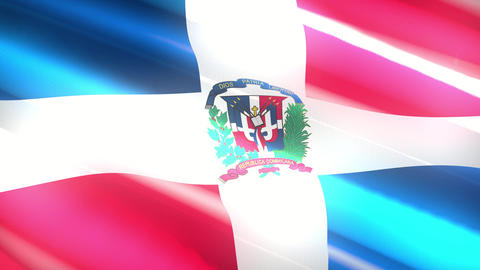 Dominican Republic holiday flag - loop animation Animation