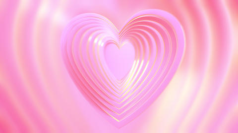 Heart waves on a pink background. Card for Mother's Day, Valentine's Day and other love occasions Live Action
