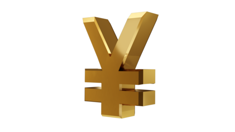 3D Japanese Yen Currency And Symbol