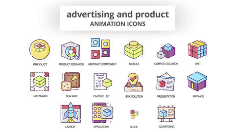 Advertising & Product - Animation Icons After Effects Template