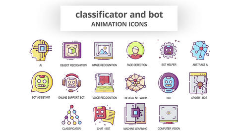 Classificator & Bot - Animation Icons After Effects Template