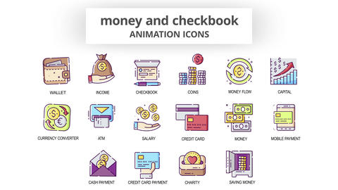 Money & Checkbook - Animation Icons After Effects Template