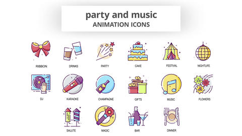 Party & Music - Animation Icons After Effects Template