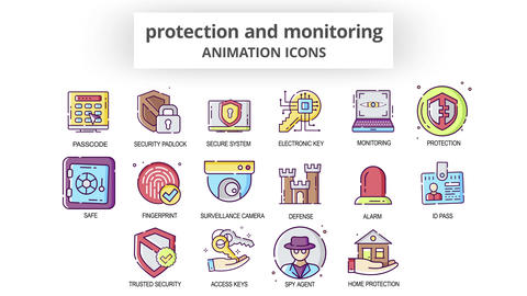 Protection & Monitoring - Animation Icons After Effects Template
